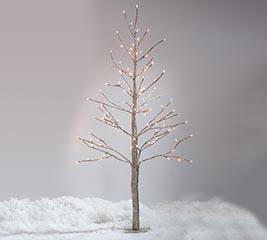 """48"""" CHAMPAGNE GLITTER TREE TWINKLE LIGHT"""
