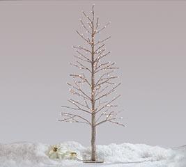 CHAMPAGNE GLITTER TREE TWINKLE LIGHTS