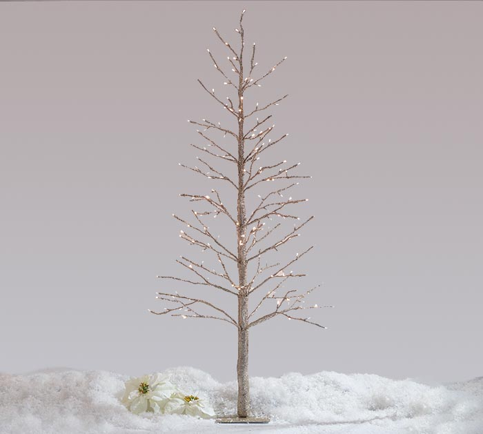 CHAMPAGNE GLITTER TREE TWINKLE LIGHTS