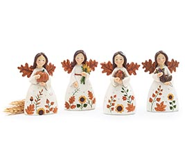 ASSORTED HARVEST ANGEL FIGURINES