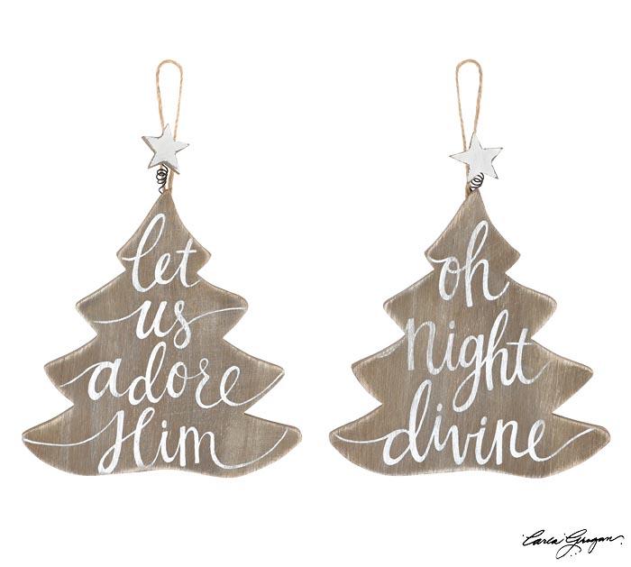 CHRISTMAS TREE MESSAGE ORNAMENT ASTD
