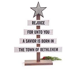 A SAVIOR IS BORN CHRISTMAS TREE