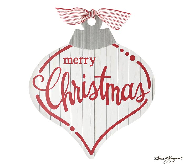MERRY CHRISTMAS ORNAMENT WALL HANGING