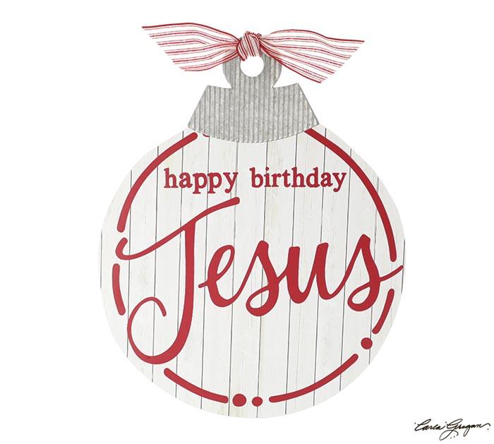 HAPPY BIRTHDAY JESUS ORNAMENT WALL DECOR
