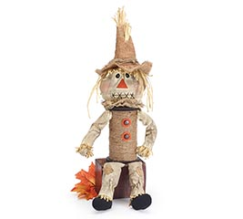 SPINDLE BODY SCARECROW SHELF SITTER
