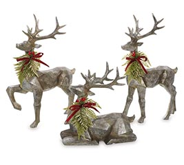 CONTEMPORARY SHAPE PEWTER COLOR DEER