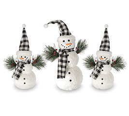 SNOWMAN ASSORTMENT BLACK AND WHITE HATS