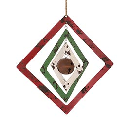 MULTILAYERED SQUARE BELL WALL HANGING