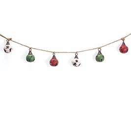 GARLAND DISTRESSED BELLS WITH ROPE
