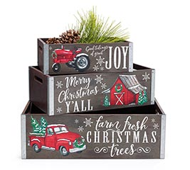 CHRISTMAS CRATE SET WITH ASTD MESSAGES
