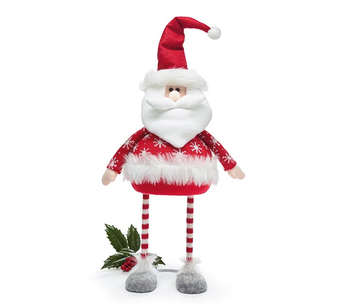 BOBBLE SANTA WITH RED CLOTHING