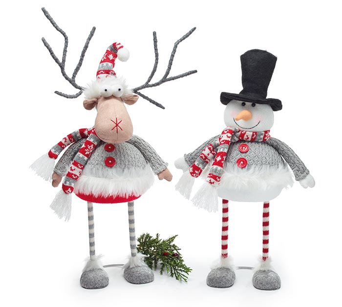 BOBBLE SNOWMAN AND REINDEER