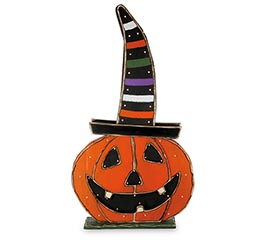 "37"" LIGHTED JACK-O-LANTERN IN WITCH HAT"