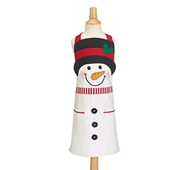 SNOWMAN CHILD'S APRON