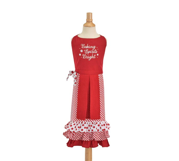 BAKING SPIRITS BRIGHT APRON WITH TOWEL