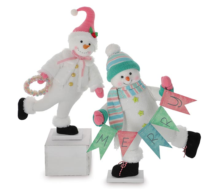 DANCING SNOWMAN WITH BRIGHT COLORS