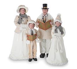 STANDING CHRISTMAS CAROLER FAMILY