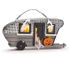 HALLOWEEN CAMPER WITH LED LIGHT