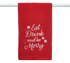 """""""EAT DRINK AND BE MERRY"""" TEA TOWEL"""