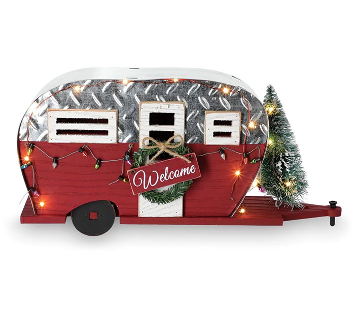 CHRISTMAS CAMPER WITH LED LIGHTS