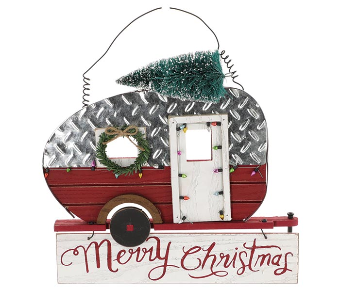 MERRY CHRISTMAS CAMPER WALL HANGING