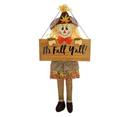 IT'S FALL Y'ALL WALL HANGING SCARECROW