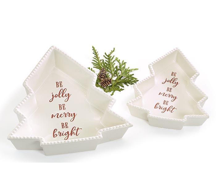 NESTED CHRISTMAS TREE SHAPED BAKEWARE