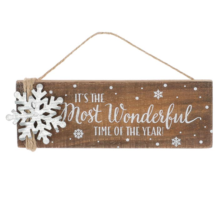 THE MOST WONDERFUL TIME OF YEAR ORNAMENT