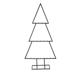 """31"""" DISPLAY TREE FOR ORNAMENTS"""
