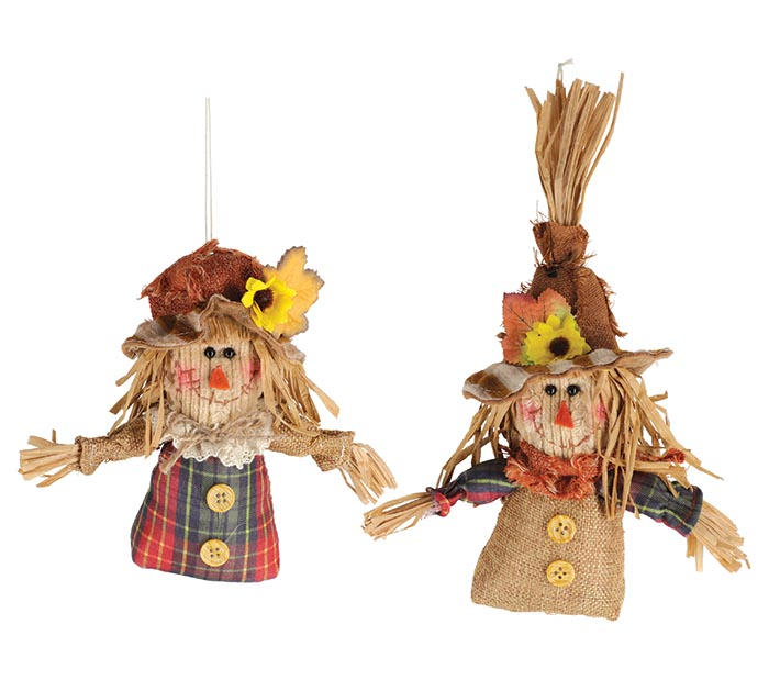 DISPLAY BOX OF GIRL AND BOY SCARECROWS