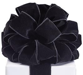 #40 BLACK VELVET WIRED RIBBON