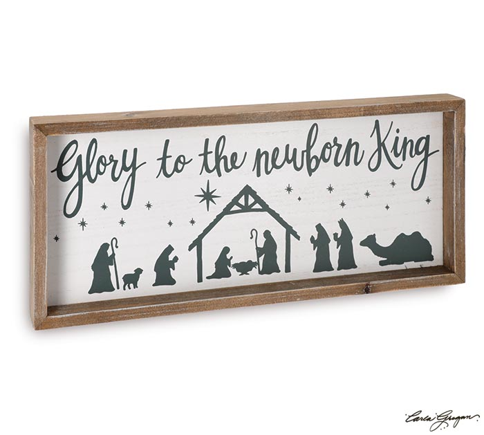 GLORY TO THE NEWBORN KING WALL HANGING