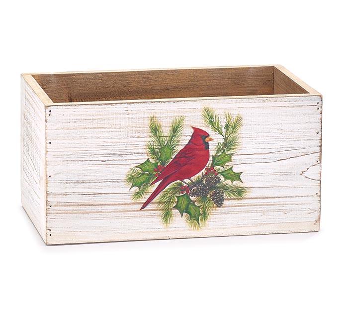 CHRISTMAS CARDINAL PLANTER