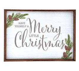MERRY LITTLE CHRISTMAS WALL HANGING