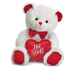 HOT STUFF VALENTINE BEAR WITH BOW TIE