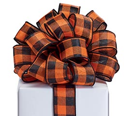 RIBBON #9 BLACK/ORANGE CHECK