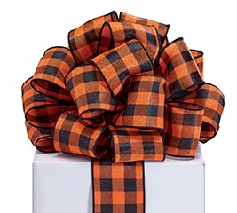 RIBBON #40 BLACK/ORANGE CHECK