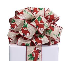 RIBBON #40 MERRY CHRISTMAS RED TRUCK