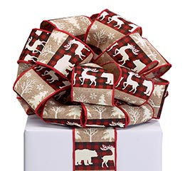 RIBBON #40 XMA MOOSE DEER TREE