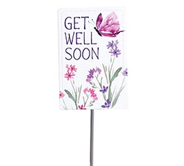 GET WELL SOON WATERCOLOR FLOWERS PICK