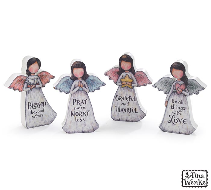 ANGEL FIGURINES WITH ASSORTED MESSAGES