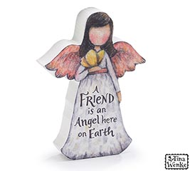 ANGEL FIGURINE WITH FRIEND MESSAGE
