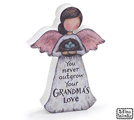 GRANDMA'S LOVE MESSAGE ANGEL FIGURINE