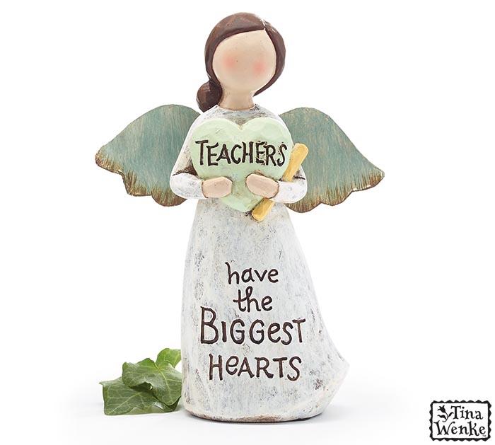 TEACHER MESSAGE ANGEL FIGURINE