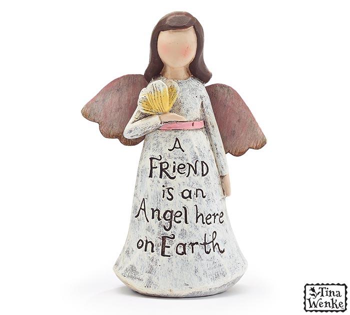 ANGEL FIGURINE FRIEND MESSAGE