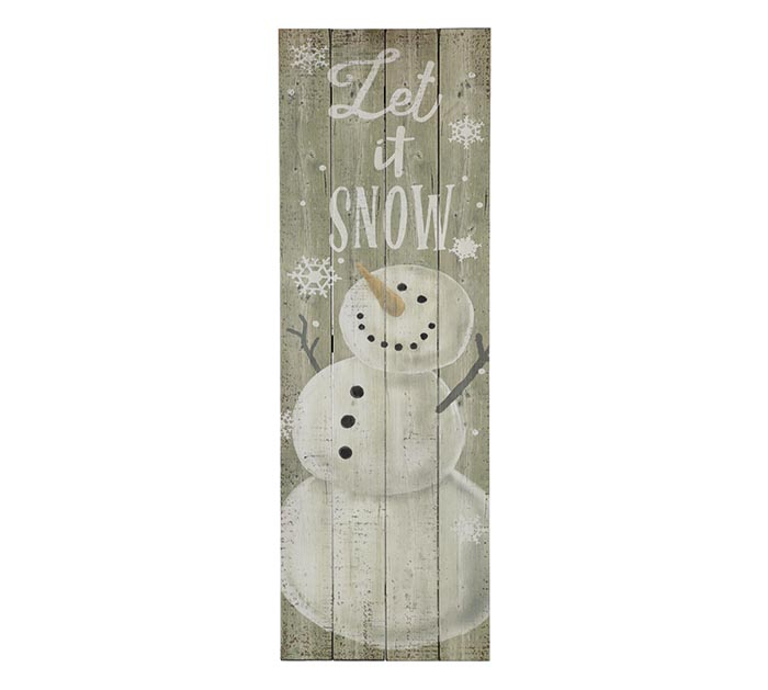 LET IT SNOW SNOWMAN WALL HANGING
