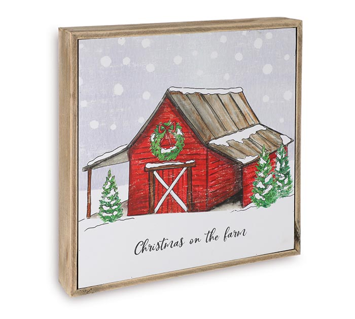 CHRISTMAS ON THE FARM BARN WALL HANGING