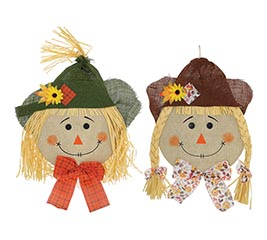 LARGE SCARECROW HEAD WALL HANGING