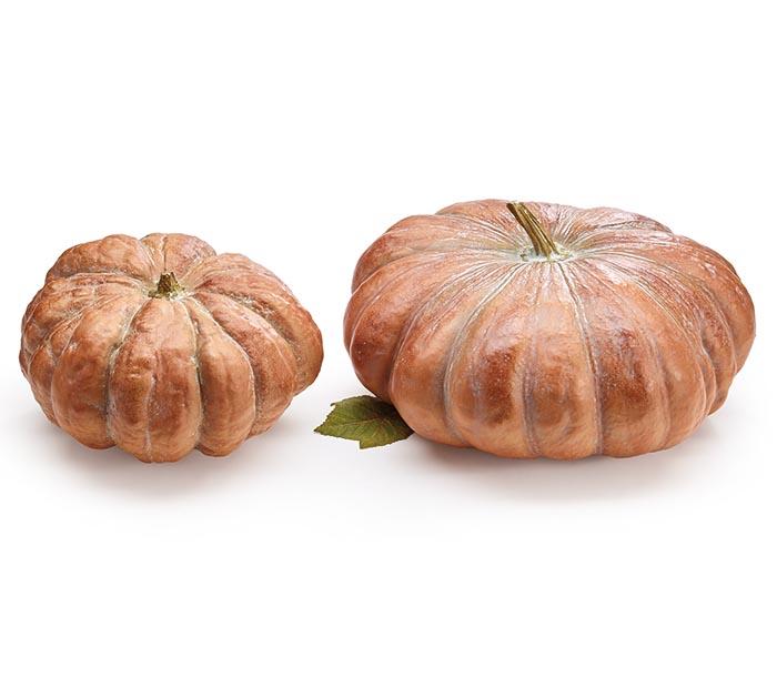 Natural Orange Resin Pumpkin Decor