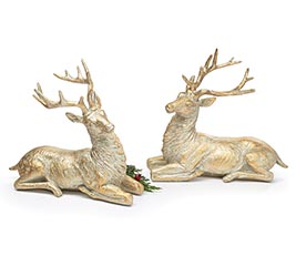 GOLD/SILVER COLOR DEER FIGURINES